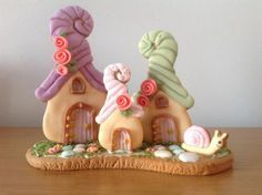 Fairy houses - Cake by Cindy
