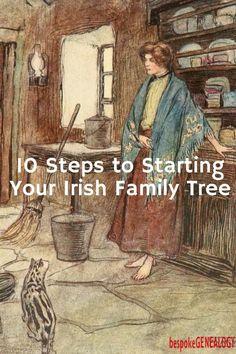 10 Steps to Starting Your Irish Family Tree | Irisg Genealogy research | Irish family history | Bespoke Genealogy