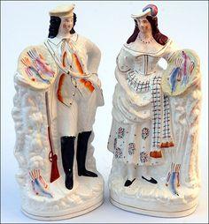 Стаффордширские  статуэтки.
