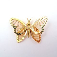 Vintage Monet Butterfly Brooch by TeaRoseTrinkets on Etsy, $9.50