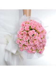 66% off on Tulle Wrapped Blushing Pink Rose Wedding Flower for Wedding Party MS20RG602
