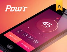 Pow'r, an App concept & Identity by French Toast