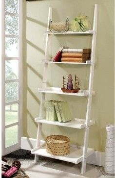 white ladder shelf - Google Search