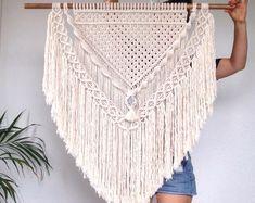 Jenny| Large Macrame Wall Hanging| Natural Cotton Rope| Greystone Centrepiece