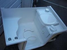 """Toilet Shower Combo <3 our pins?  Click here: https://www.facebook.com/bound4burlingame and """"LIKE"""" to get camping tips, DIY ideas & finds on your Facebook newsfeed."""