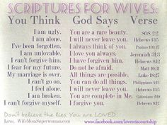 Bible Verse: Scriptures For Wive's Marriage Help, Godly Marriage, Love And Marriage, Healthy Marriage, Bible Quotes, Bible Verses, Scripture Study, Qoutes, Godly Quotes