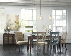 """Rectangular Dining Room TableInches: 68"""" W x 40"""" D x 30"""" H"""