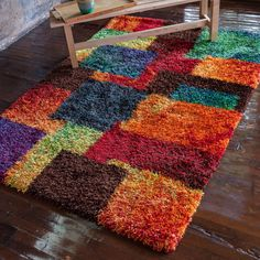 The Curated Nomad Vesuvio Multicolor Checkerboard Shag Rug x (Cantebury Multi Shag Rug x (Polyester, Patchwork) Latch Hook Rugs, 4x6 Rugs, Orange Rugs, Geometric Rug, Cool Rugs, Rug Hooking, Online Home Decor Stores, Beige Area Rugs, Rugs On Carpet