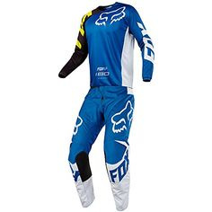 9eda67f39 Fox Racing 180 Race Blue Jersey Pant Combo Size XLARGE 36W     Amazon most