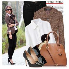 Steal His Style: Tweed Jacket on Polyvore