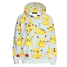 47251361 Sexy&Stylish Harajuku Girl Autumn Coat Cartoon Pokemon Cute Pikachu  Printed Hooded - Pokemon Hoodies