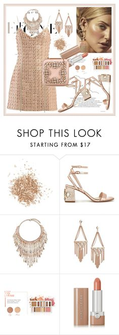 """""""Sunset Party"""" by stars-5 ❤ liked on Polyvore featuring Topshop, David Koma, Miss Selfridge, Rosantica, Kendra Scott, BHCosmetics, Marc Jacobs and Manolo Blahnik"""