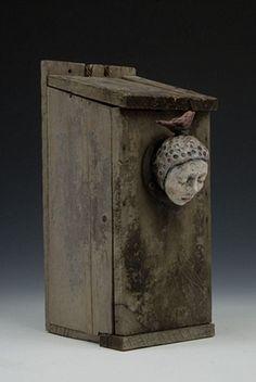 Elissa Farrow Savos. Polymer clay, oils, found objects