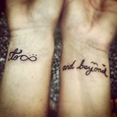 Sister tattoo. Distance. To infinity and beyond.