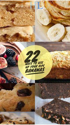 Top 22 ways to use up ripe Bananas: Food recipes – Healthy lifestyle Banana Recipes Easy, Banana Dessert Recipes, Easy Cake Recipes, Easy Desserts, Sweet Recipes, Fruit Recipes, Desert Recipes, Bread Recipes, Yummy Recipes