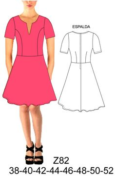 Dress Sewing Patterns, Sewing Patterns Free, Clothing Patterns, Free Pattern, Pattern Fashion, Kaftan, Sewing Projects, Short Sleeve Dresses, Dresses For Work