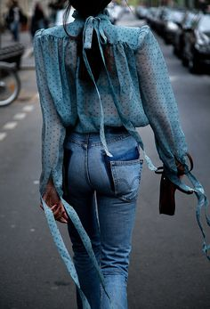 Airy Blouse + Jeans