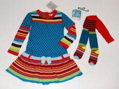 Deux Par Deux Fairies Believer Striped Sweater Dress Tights Legwarmers Set 5 | eBay