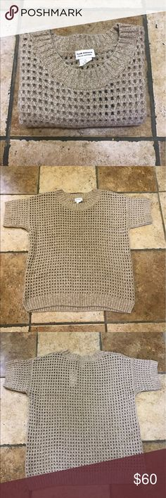 Club Monaco Waffle style warm crew neck sweater. Great as a layering piece or alone worn with a camisole or a bra alone. Never worn, great condition. Material Italian cashmere Club Monaco Sweaters Crew & Scoop Necks