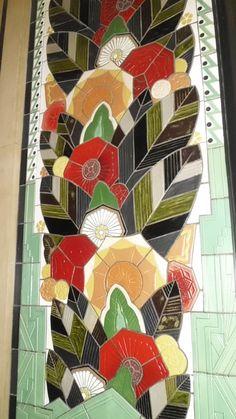 Art Deco tile in Cincinnati, Ohio's Hylton Tower