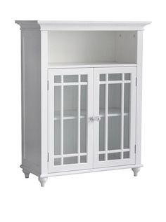 Elegant Home Fashions Neal 2 Door Floor Cabinet - White : Target Craftsman Shelving, Craftsman Storage Cabinets, Craftsman Style, Bathroom Furniture, Furniture Decor, Bathroom Sink Storage, Downstairs Bathroom, Bathroom Fixtures, Master Bathroom