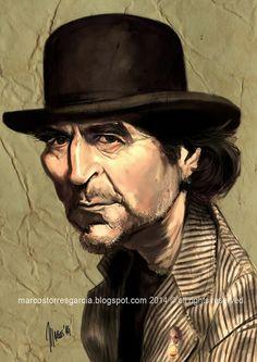 Caricatura de Joaquín Sabina.