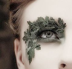Creative makeup and photography; a previous pinner very aptly named her Demeter…