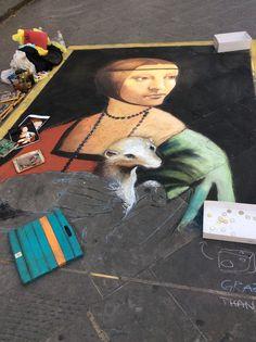 Sidewalk artist in Florence! Italy.