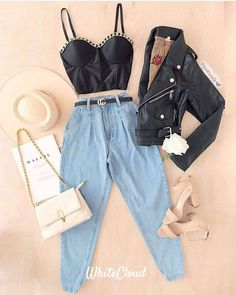 Teen Fashion Outfits, Womens Fashion, Bustier Top, Bell Bottoms, Mom Jeans, Comfy, Costumes, Chic, My Style