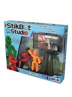 Green Brown Poseable Zing Stikbot Pets StikHorse Horse Translucent Red Blue