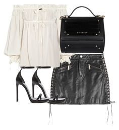 """Untitled #3660"" by theeuropeancloset ❤ liked on Polyvore featuring Dsquared2, Alexander McQueen, Yves Saint Laurent and Givenchy"