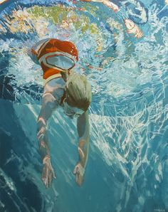 Samantha French, Dive Immerse, Oil on canvas, 60 x 48 Figure Painting, Painting & Drawing, Underwater Painting, Illustration, Oeuvre D'art, Oil On Canvas, Swimming, Fine Art, Drawings
