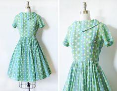 50er Jahre Kleid 1950er Jahre Vintage von RustBeltThreads auf Etsy