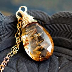 Imperial topaz pendant golden topaz topaz by powerstonejewelry1 imperial topaz in a 14k gold filled necklace aloadofball Images