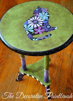 Painted Table Nightstand Furniture Side by TheDecorativeBrush, $100.00