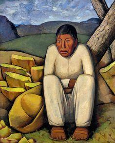 el indio solitario - alfredo ramos martinez 1933