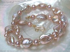 High Lustre Small Pink Drip Coin Freshwater Pearl Necklace