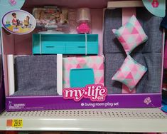 My Life As.Accessories *In Store Report* Our Generation Doll Accessories, My Life Doll Accessories, American Girl Accessories, American Girl Doll Room, American Girl Furniture, American Girl Crafts, Barbie Doll Set, Barbie Toys, Baby Alive Dolls
