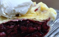Gluten free cherry pie made with homemade cherry pie filling and a tender, flaky, GF crust! #glutenfree #vegan