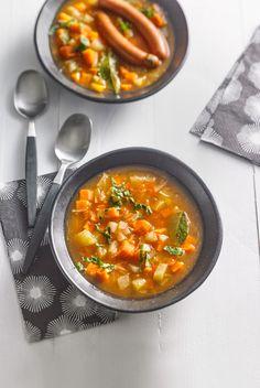 Karotten-Kohlrabi-Kartoffelsuppe mit Ingwer