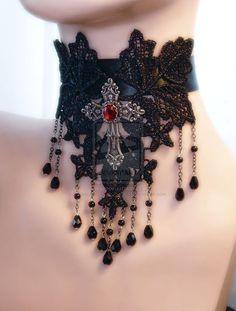 Eternal Gothic choker by PoisonedAppleBoutiqu.