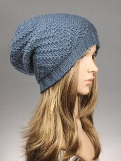 Knit Slouch Beanie Slouchy Hat Women Hat Knit Hat by VONANA