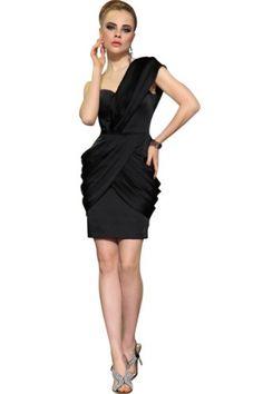 Little Smily Women's One Shoulder Short Cocktail Dress, Black, L Little Smily,http://www.amazon.com/dp/B00EHGLYAI/ref=cm_sw_r_pi_dp_1mPQsb0MZ3VBTSZ0