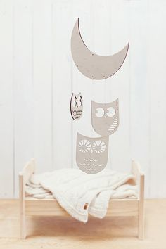 READY TO SHIP Wooden baby mobile / Nursery mobile / by GeraBloga