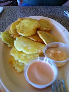 Free Recipes From Puerto Rico | Tostones de Pana | Pino's Restaurant Joyudas Puerto Rico