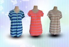 Baju Sisa Export | Sisa Export | Obral Sisa Export | Baju Branded | Stocklot | Old Navy Lengan Pendek Salur Motif