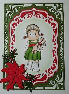 Luxury-magnolia-tilda-christmas-card-topper-ready-to-assemble-copic-coloured