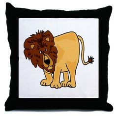 Funny lion pillow design is a great gift idea.  #lions #funny #pillows #cats #cafepress
