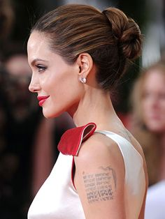 Angelina Jolie...from Redbookmag.com's article about easy updos!