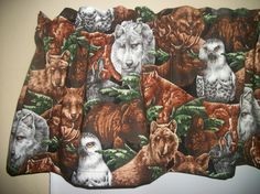 Bear Owl Moose Wolf Wolves wild animal man cave by yoursewingroom